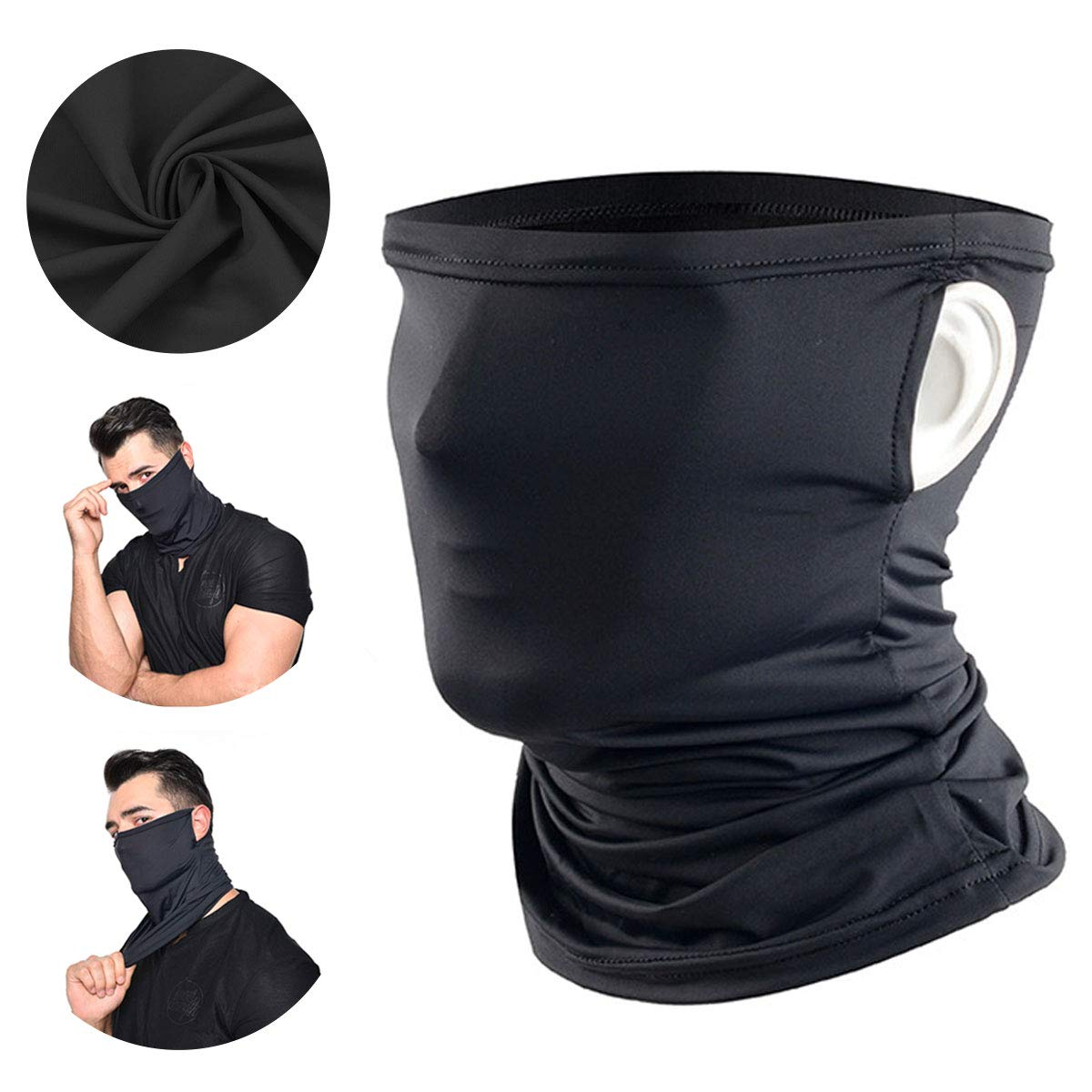 Neck Gaiter Balaclava Bandana Headwear Ice Silk Cooling Sports Face Scarf for Dust Outdoors