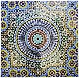 3dRose cst_132003_3 Mosaic Wall for Fountain, Fes, Morocco, Africa-Af29 Kwi0083-Kymri Wilt-Ceramic Tile Coasters, Set of 4