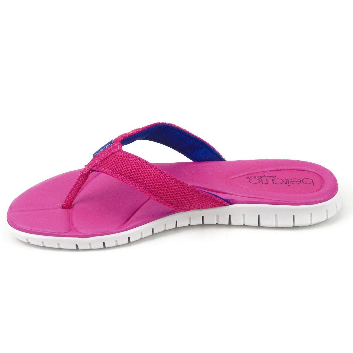 a093a2e023 Chinelo Beira Rio Conforto Tira Pronta Nylon Saturno 8357.100 na cor Pink  Azul  Amazon.com.br  Amazon Moda
