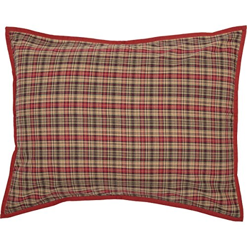 VHC Brands Seasonal Bedding Gatlinburg Red Sham, Standard, ()