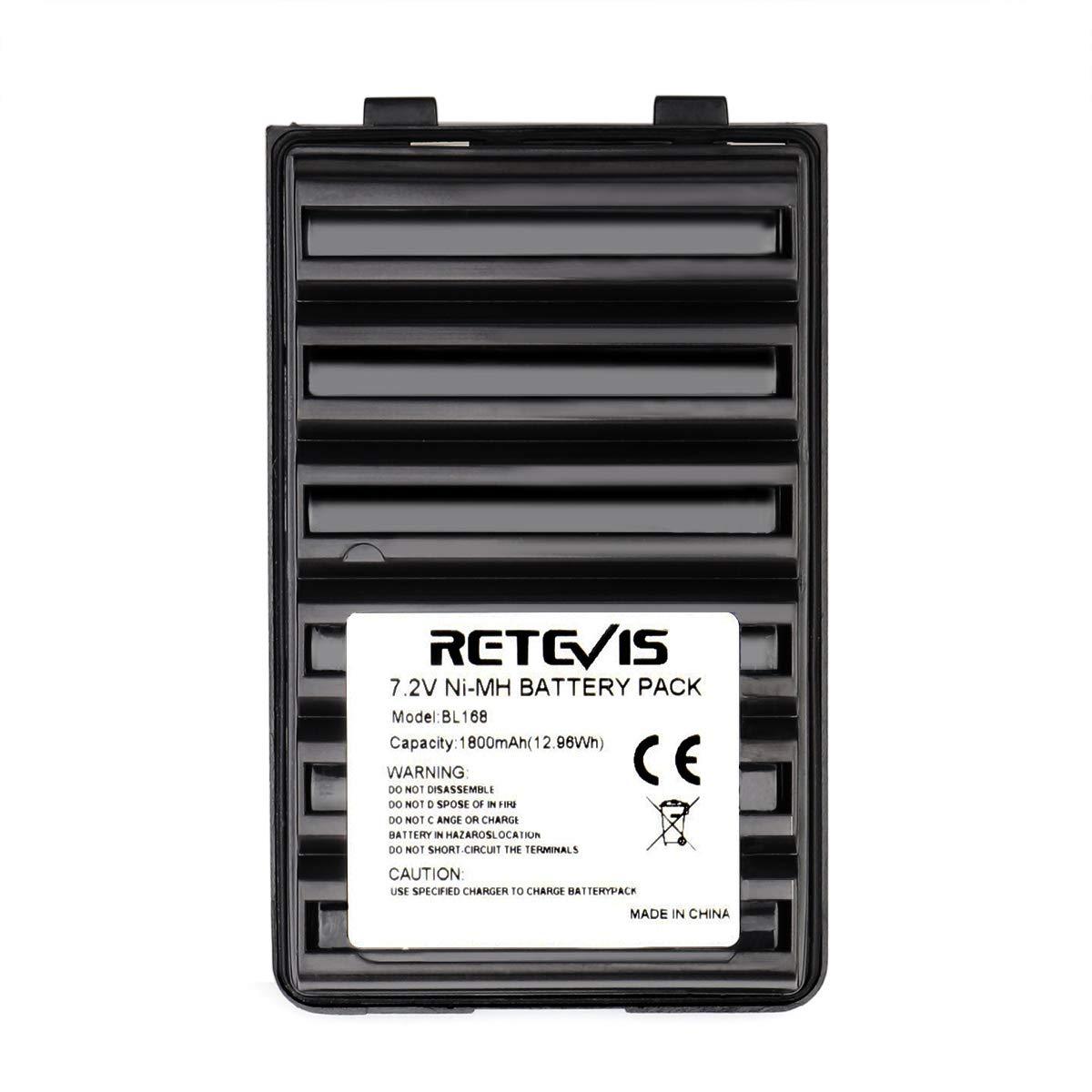 Retevis BL168 Two Way Radio Battery 7.2V 1800mAh Ni-MH Rechargeable Battery for Yaesu FT-60R VX-170 Vertex VX-150 VX-160 Walkie Talkies 1 Pack