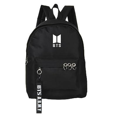 Skisneostype KPOP BTS Backpack Unisex Canvas Bangtan Boys Starry Sky  Satchel Schoolbag Sports Bags (Black 1)  Amazon.co.uk  Shoes   Bags