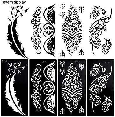 Konsait Plantillas de tatuajes temporales, mandala tatuaje ...