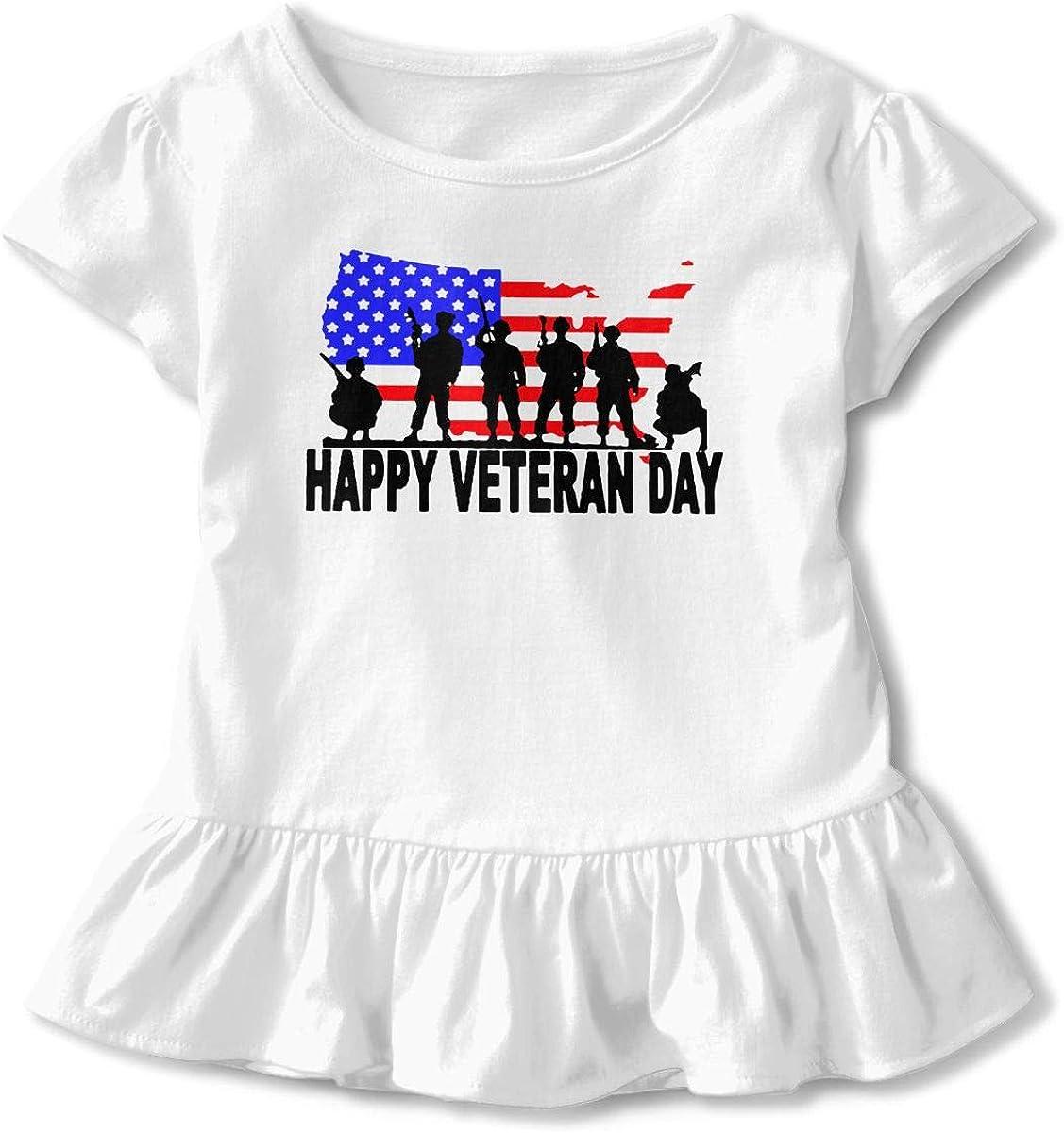 Veterans Day Kids Children Round Collar T-Shirt Help Shirt