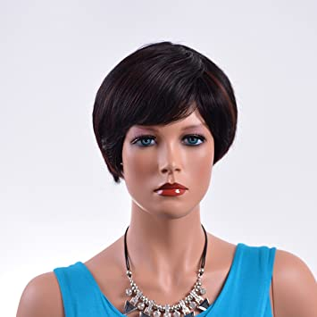 Synthetic Short Wig Afro Kinky Wavy Mocha Bob Hair Wigs Cosplay European Africans Fashion Salon Synthetic
