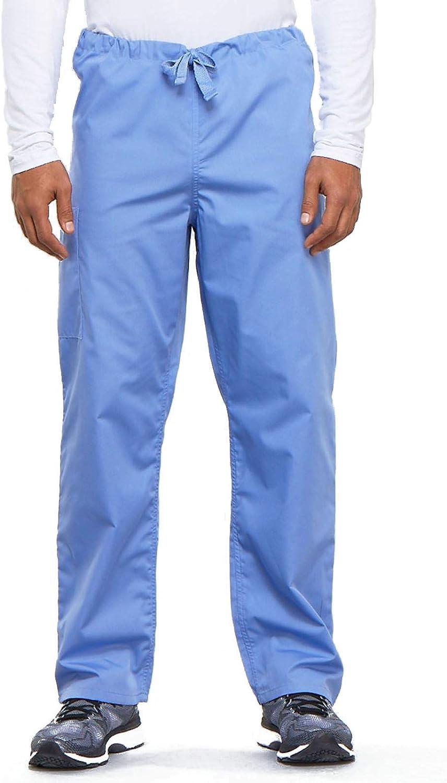 Cherokee Big and Tall Originals Unisex Drawstring Cargo Scrubs Pant, Ceil, XX-Large: Clothing