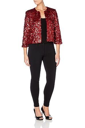 01dbe7e4 Roman Women's Sequin Jacket Red Size 20: Amazon.co.uk: Clothing