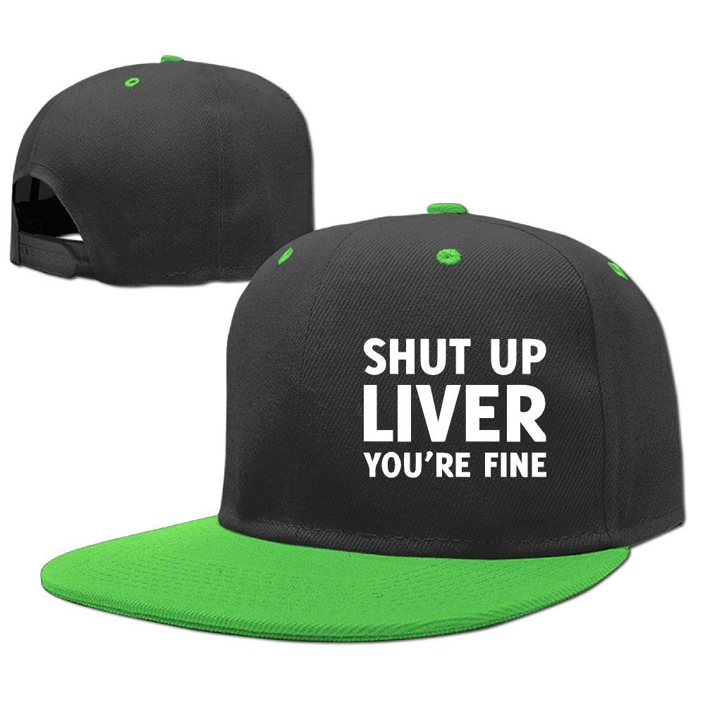 EG93i-05 Unisex Kids Quick Drying Hip Hop Baseball Cap Shut Up Liver You're Fine Cotton Sports Hat
