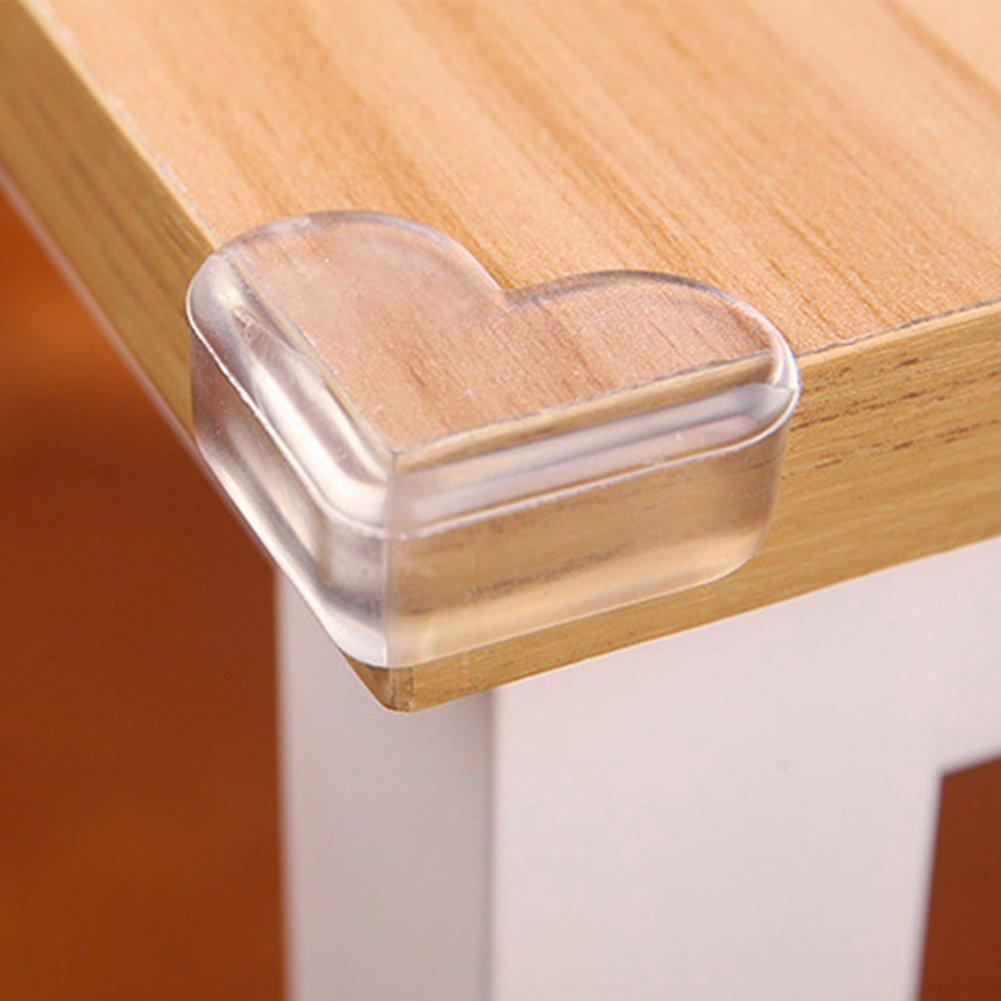 4pcs de sécurité protecteurs d'angle, Hinmay en forme de cœur Transparent Protections coin de table pour enfants Babys salle à manger des Tables, table Coin Edge Coque de protection