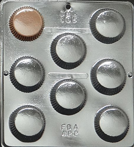 Large Peanut Butter Cup Mold Chocolate Candy Mold Candy Making 105