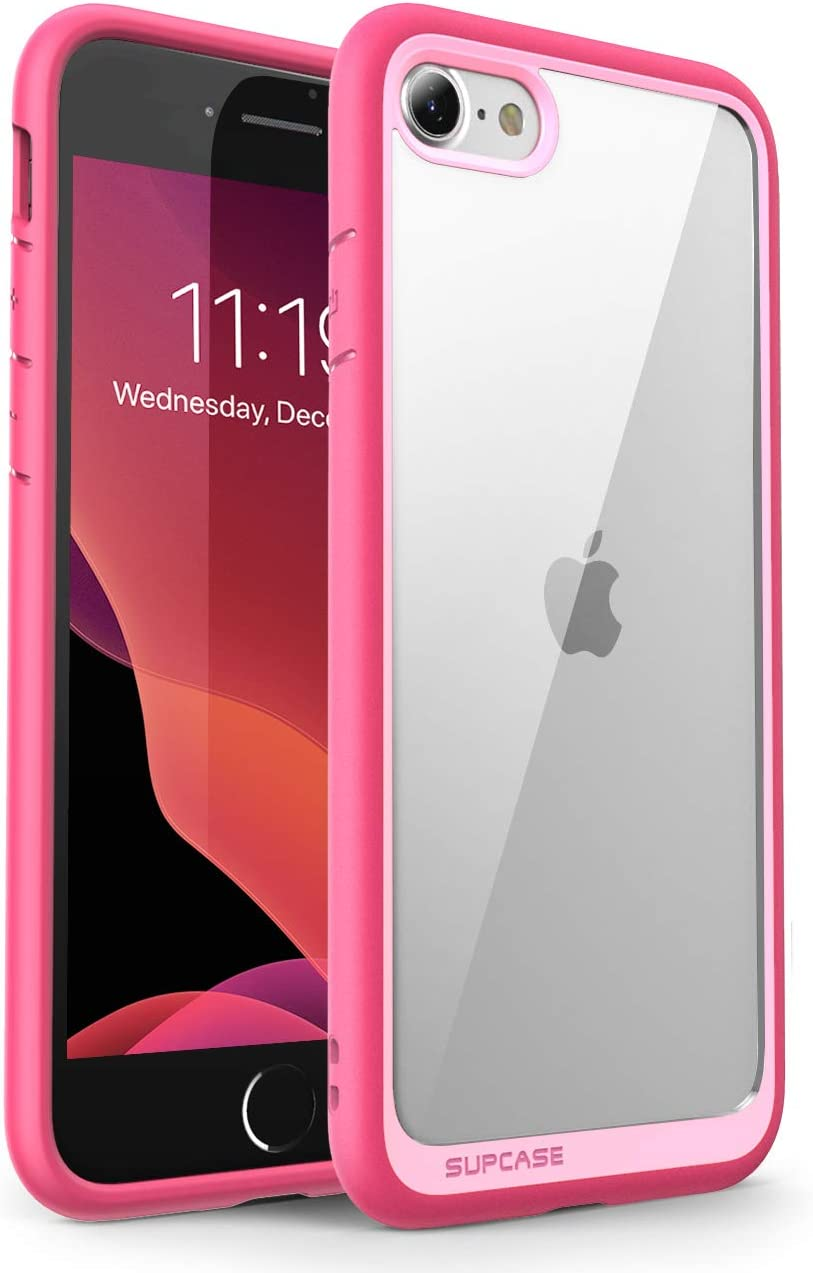 SUPCASE Unicorn Beetle Style Case Designed for iPhone SE 2nd Generation/iPhone 7/iPhone 8, Premium Hybrid Protective Clear Bumper Case (Pink)
