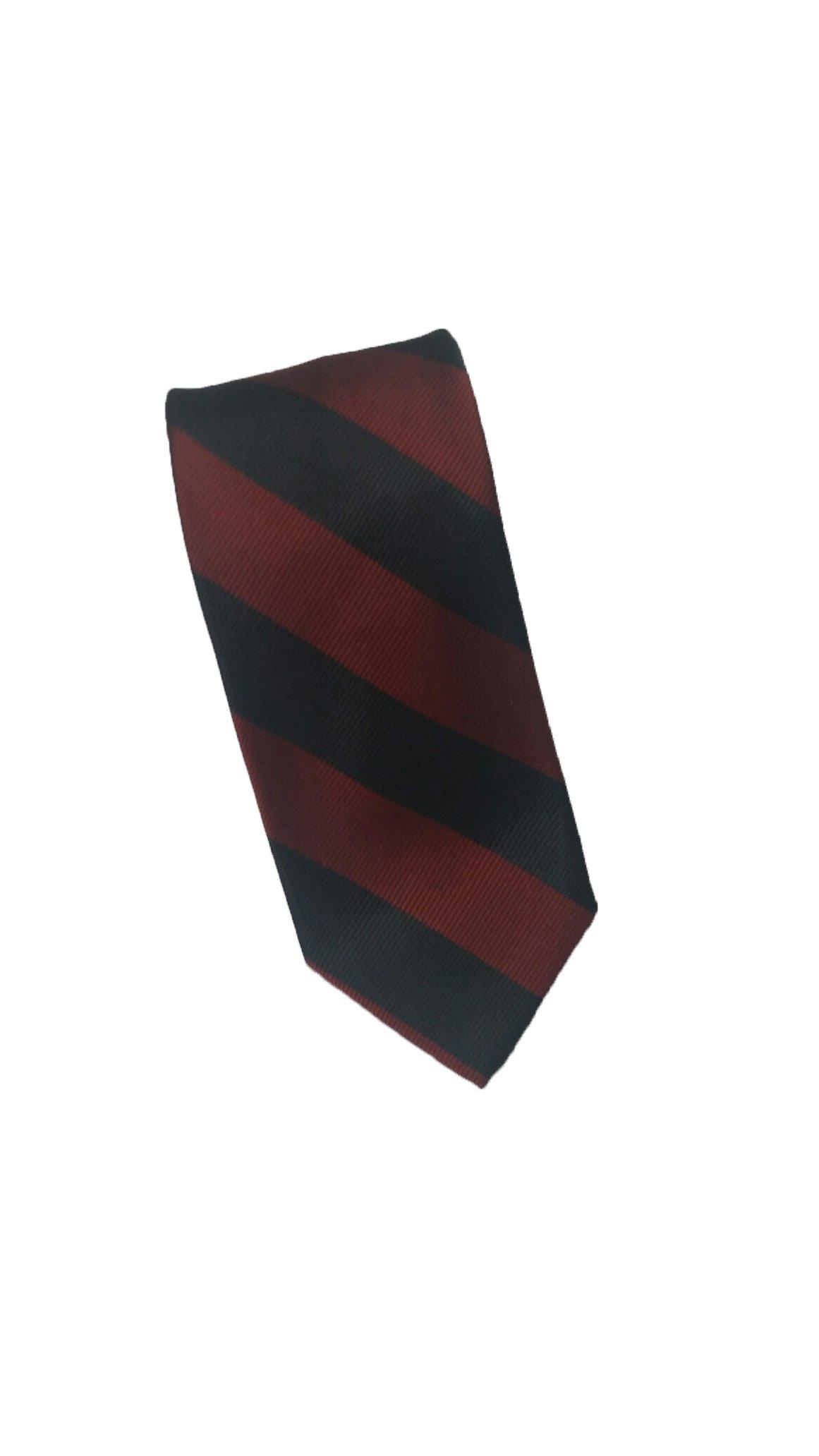 Robert Talbott Burgundy and Black Stripes Silk Tie