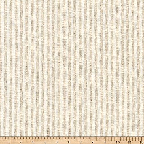 - Robert Kaufman Kaufman Essex Yarn Dyed Classic Wovens Linen Stripes Natural Fabric by The Yard,