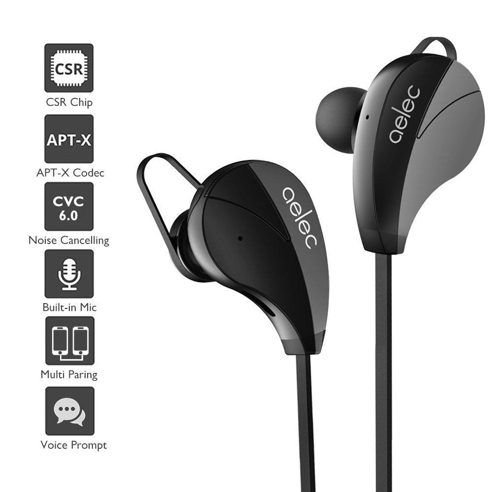 aelec S350 auriculares Bluetooth inalámbrico in-ear Deportes auriculares a prueba de sudor auriculares cancelación de ruido auriculares con micrófono para ...