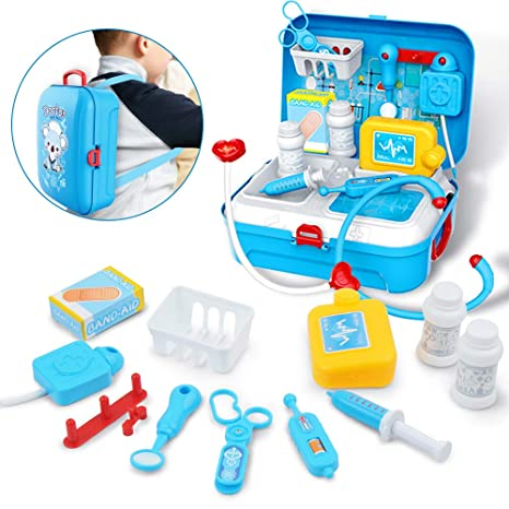 Gizmovine Doctor Kit For Kids Pretend Medical Set Kids Toy Doctor Medical Playset Equipment 17pcs Educational Doctor Toys For Toddler Boys Girls