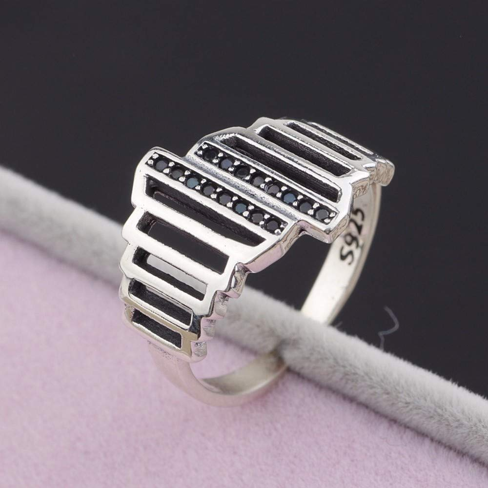 THTHT Vintage S925 Silver Ring Womens Opening Fashion Creative Gift Personality