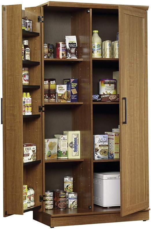 Storage Cabinet Kitchen Pantry Organizer Wood Furniture Bathroom Cupboard Shelf