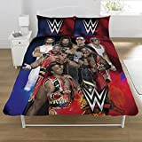WWE Super 7 UK Double/US Full Duvet Cover and Pillowcase Set