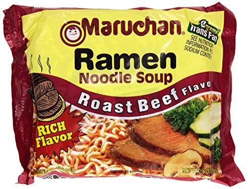 Maruchan Ramen Noodle Soup, Roast Beef Flavor, 3-Ounce