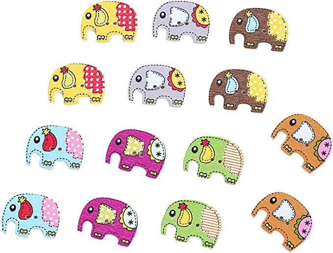 Elephant Childrens Buttons Novelty Buttons Cake Decorations Craft Sewing