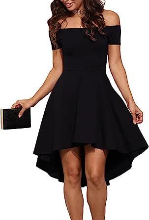 Asymmetrical hem black cocktail dress Size M