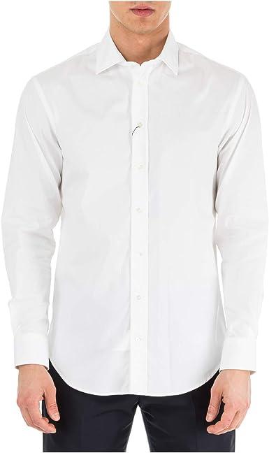 Emporio Armani Hombre Camisa Bianco 40 cm: Amazon.es: Ropa y accesorios