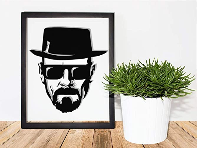 Walter White Framed Papercut - The Cook Breaking Bad Heisenburg ...