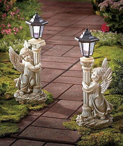 Set of 2 Solar Angel Garden Lanterns - Path Lights - 19