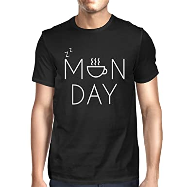 Amazon.com: Women's Funny Black Graphic T-Shirt – Monday Graphic ...
