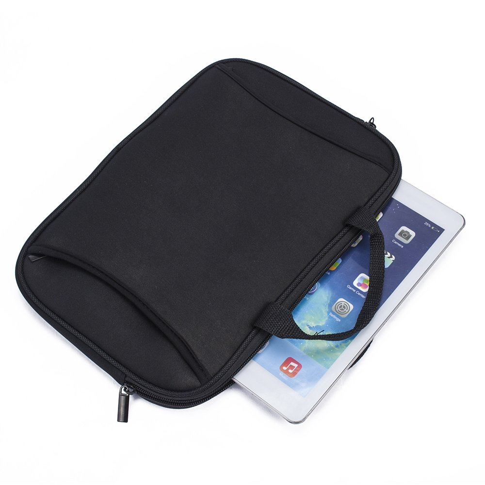 SumacLife Universal Black Neoprene Zippered Carrying Sleeve Case Bag for 7 7.9 8 9.7 10.2 10.5 10.8 Tablet Notebook Laptop