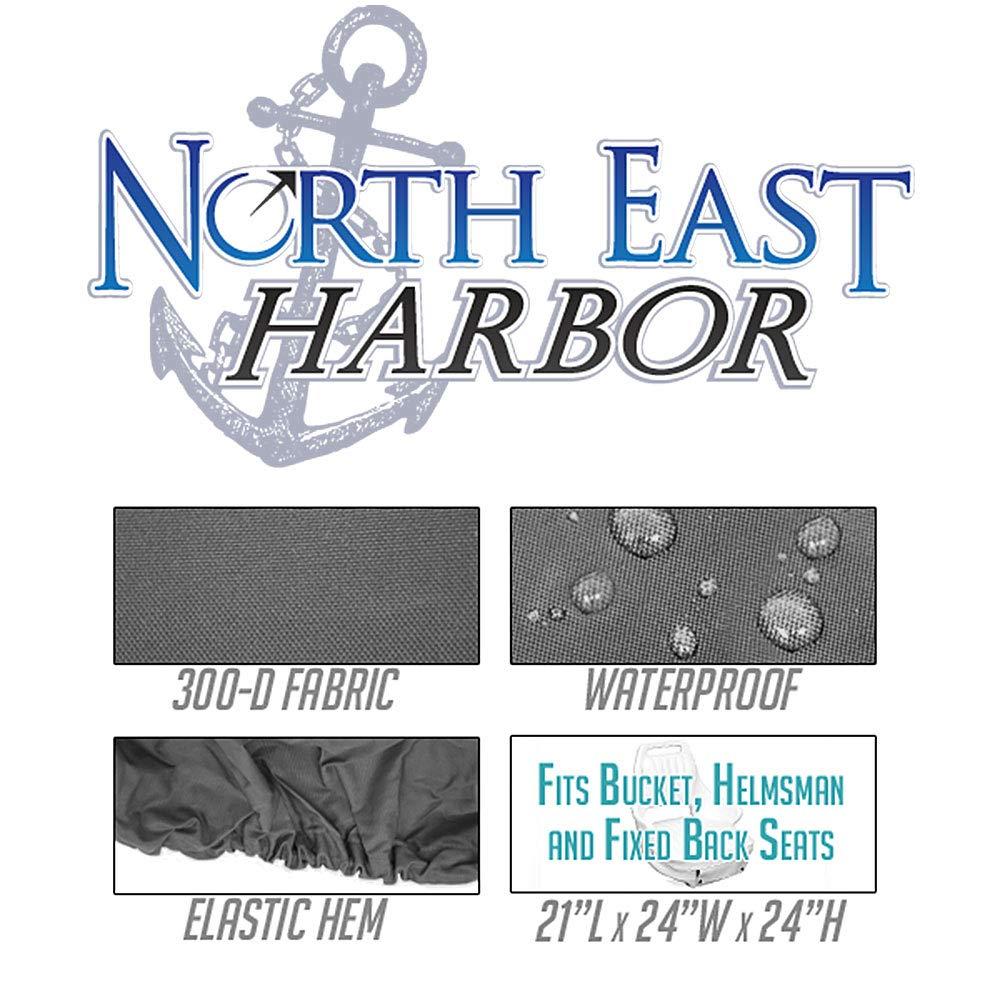 Boat Helm Helmsman Bucket Single-21 L W X 24 H-Gray North East Harbor BSC-001 Seat Storage Cover