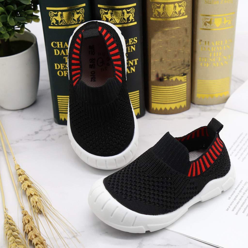 Jaune, Noir, Rouge New Casual Toddlers Leisure Chaussures Casual pour Enfants Mesh Respirant Fond Souple Chaussures 21-30 EU