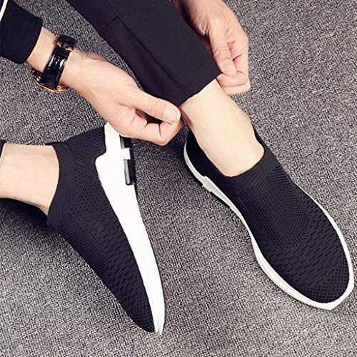 Black selvaggia tela scarpe WangKuanHome scarpe Color uomo estiva uomo casual Size tendenza 43 di Scarpe di scarpe Black denim tela da da 1SCBgqS