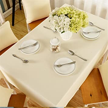 XUHAZI®Tablecloth Table runner einfach Einfarbig Gebrochenes weiß ...