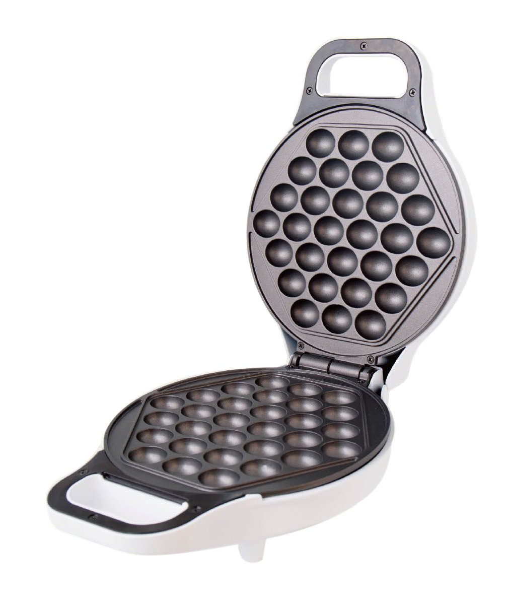 Hong Kong Egg Waffle Maker by StarBlue - White - Make Hong Kong Style Bubble Egg Waffle in 5 minutes
