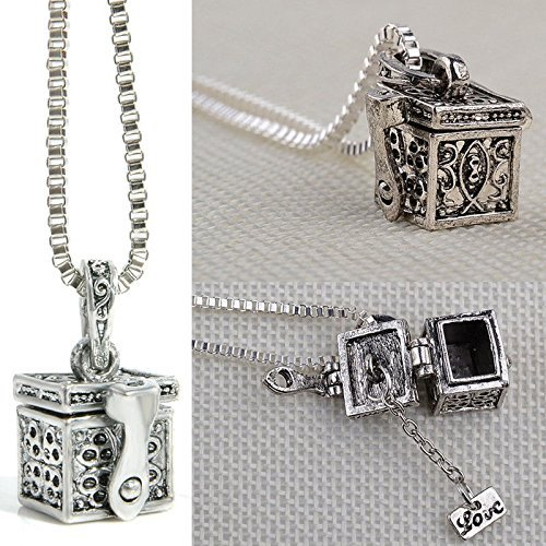Creative Metal Urn Cremation Pendant Necklace Ash Holder Mini Keepsake