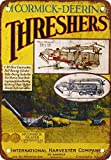 McCormick-Deering Threshers Vintage Look Reproduction Metal Tin Sign 12X18 Inches