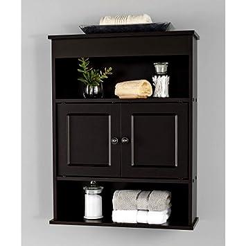 Narrow Bathroom Shelf Stand Cabinet, Espresso Vanity Cabinet ...