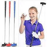 ゴルフパター キッズ/ジュニア ステンレススチール ゴルフクラブパター 31インチ ミニ ラバーヘッド ゴルフ パター子供用 年齢 3-5 6-8 9-12 3色