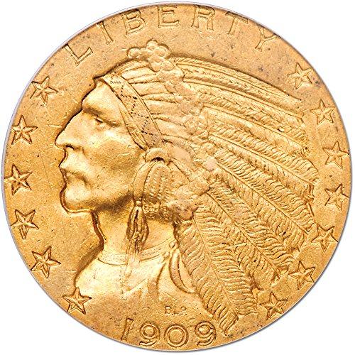 1909 O Indian Head Five Dollar AU58 PCGS
