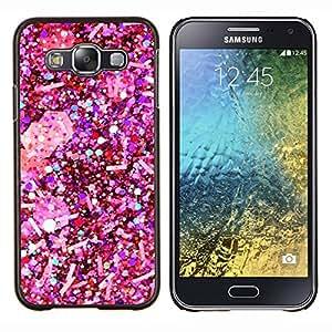Flocon de neige de Noël blanc - Metal de aluminio y de plástico duro Caja del teléfono - Negro - Samsung Galaxy E5 / SM-E500