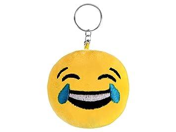 Porte Clefs Emoji Smiley Pleure De Rire 6 5 Cm Amazon Fr Jeux Et