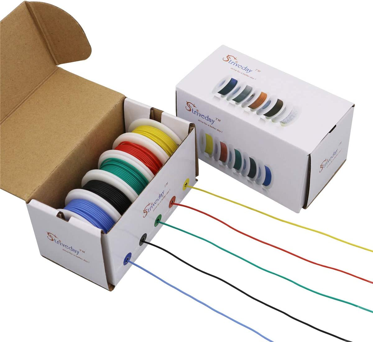 Striveday™Flexible Silicone Wire 18awg Electric wire 18 gauge Coper Hook Up Wire 300V Cables electronic stranded wire cable electrics DIY BOX-1