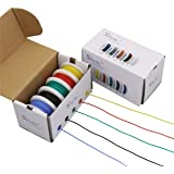 StrivedayFlexible Silicone Wire 24awg Electric Wire 24 Gauge Coper Hook Up Wire 300V Cables Electronic Stranded Wire…
