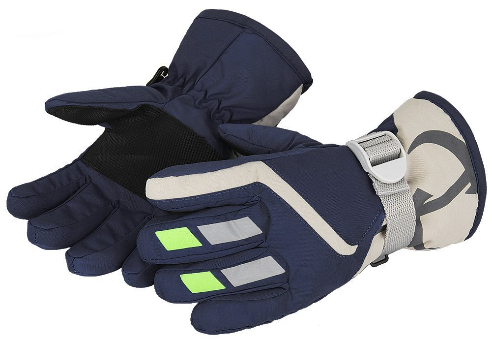 7-Mi Kids Winter Warm Gloves for Skiing//Cycling Children Mittens for 3 to 6 Years Old
