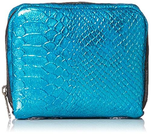 LeSportsac Classic Square Cosmetic Case,Aqua Snake,One Size