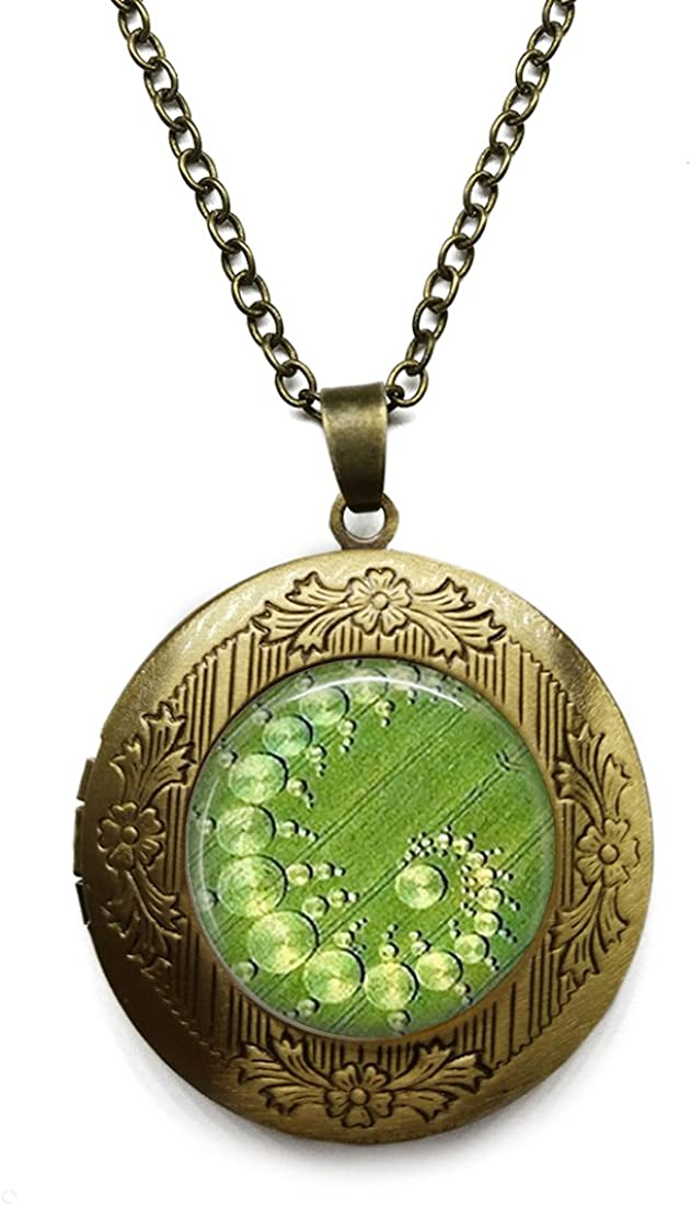 Vintage Bronze Tone Locket Picture Pendant Necklace Math Teachers Science Mathematics Included Free Brass Chain Gifts Personalized