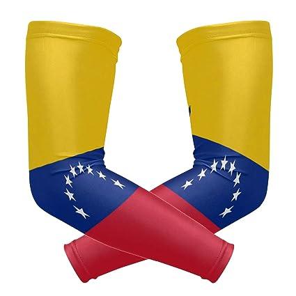 ZZKKO - Mangas de refrigeración para brazo de bandera de Venezuela con protección solar para hombres