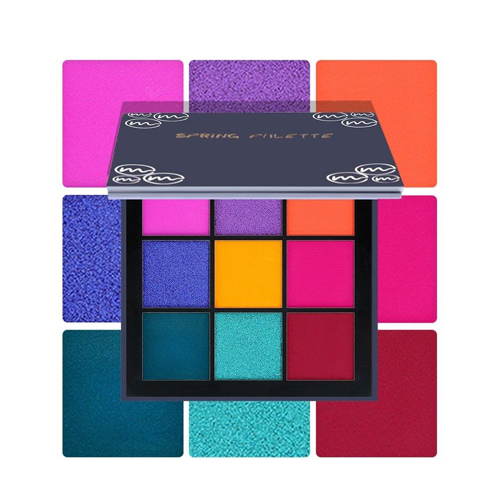 Sweetds 9 Colors Eyeshadow Palette Diamond Glitter Blend Eyes Makeup Long Lasting Eye Shadow
