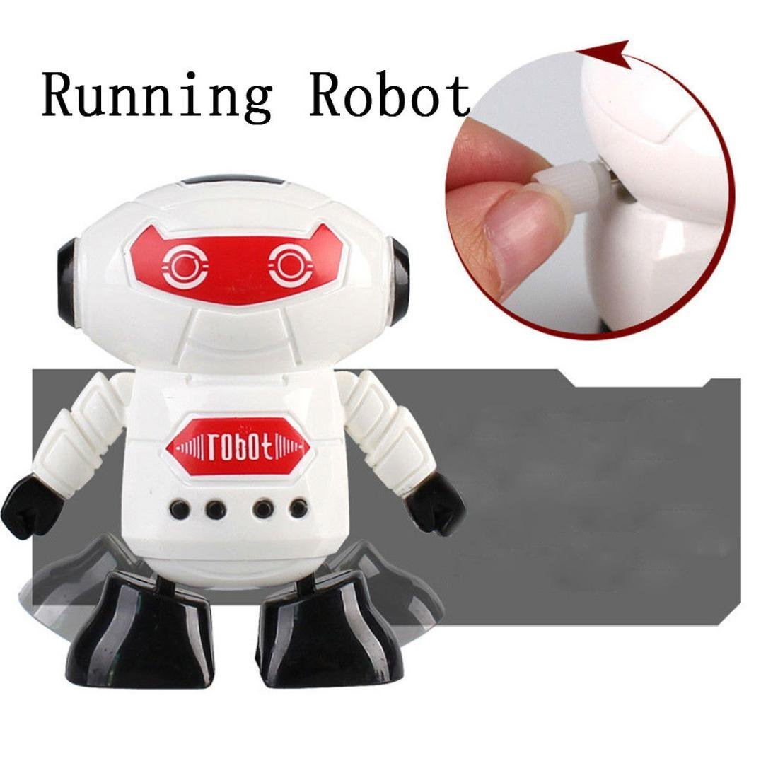Yukong Robot Toy for Baby Kids,Clockwork Wind Up Running Robot Toy for Child Developmental Gift Puzzle Toys Robot Science Kit Random Color